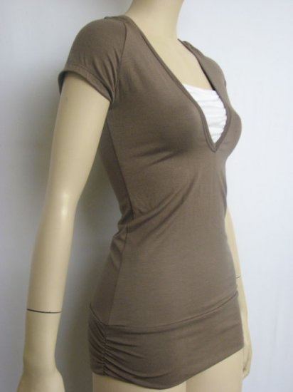 JT-2957-BROWN  JUNIOR SIZE TOPS