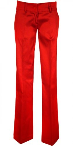 SATIN BACK WELT POCKET BOOT LEG  LONG PANT