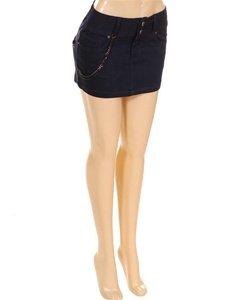 Z20-4005-Navy Mini Skirt