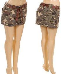 PR1-8717-Army Mini Skirt