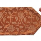 "Floral Leaves Table Runner 71"" Bronze"