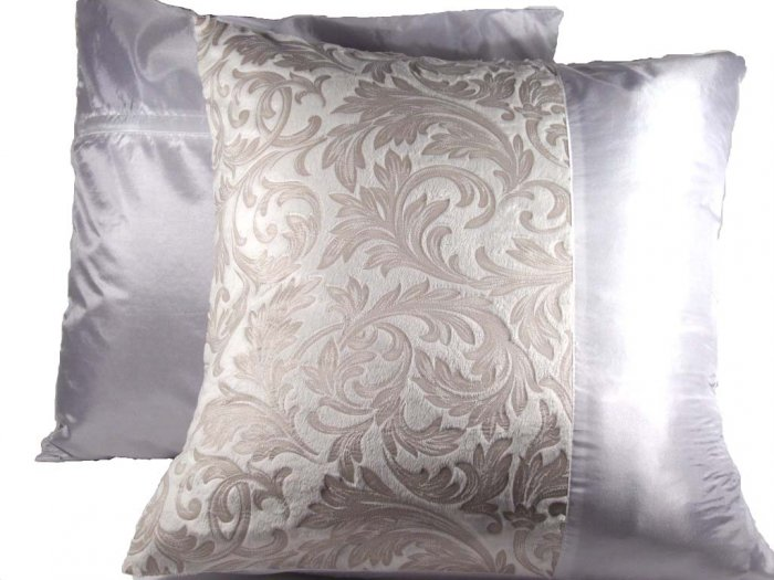 """Duo Toile Pillow Cushion Cover 20"""" Crystal White"""