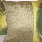 "Duo Toile Pillow Cushion Cover 20"" Olive Green"