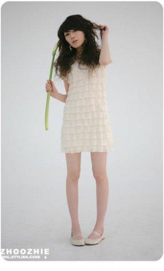 Elegant Chiffon Lace Net One Piece Dress ( Free Shipping Worldwide )