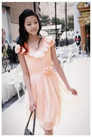 Pink V Collar One Piece Dress (Free Shipping Worldwide)