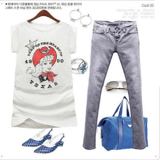 Korean Style Pretty Girl T Shirt (Free Shipping)