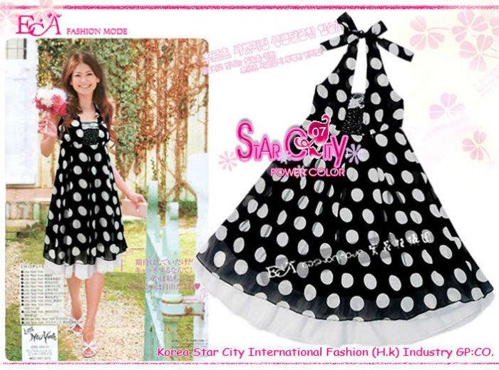 Heapy Polka Dot - Vintage Halter Dress ( Free Shipping)