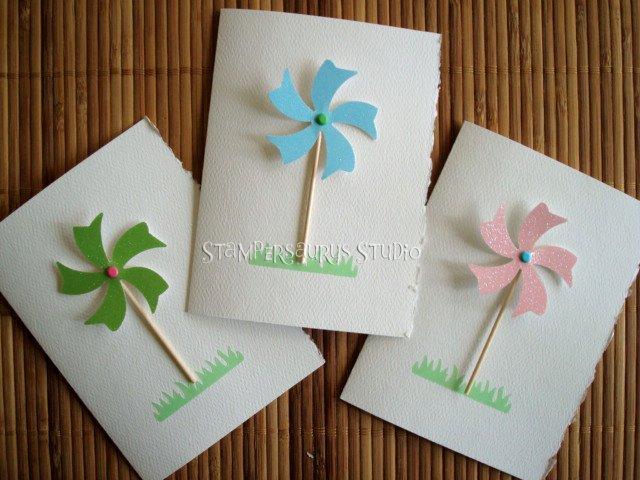 3 pc. Pin Wheel Card Set
