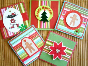 5 pc. Christmas Gift Card Set