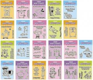 Inkadinkado Clear Mini Stamp Sets