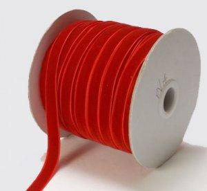 3/8 RED Velvet Ribbon