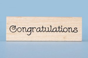 Congratulations Rubber Stamp