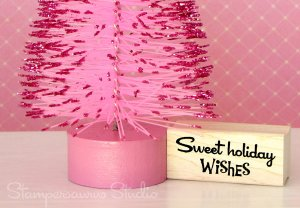 Sweet Holiday Wishes Rubber Stamp