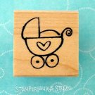Baby Carriage Rubber Stamp