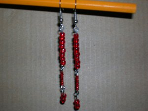 Red- 3 tiered dangle