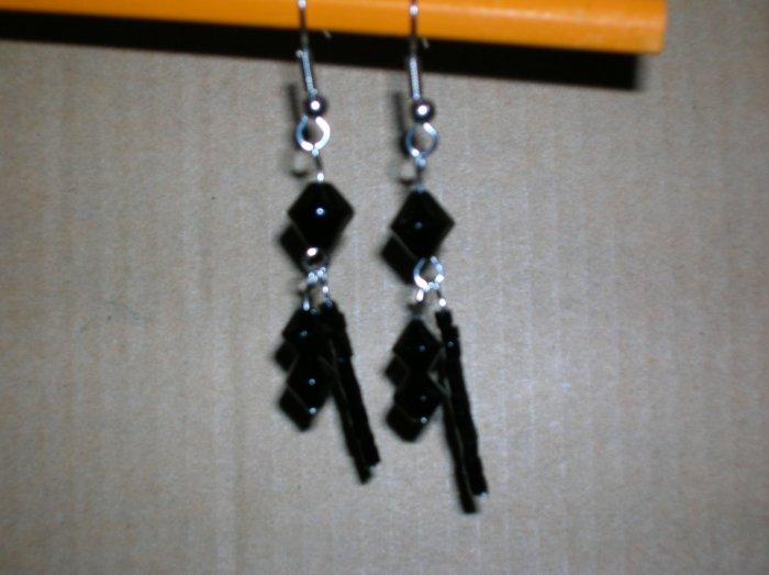 Black diamond double dangle