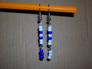 Blue/White double dangle