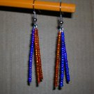 Purple/Orange triple dangle