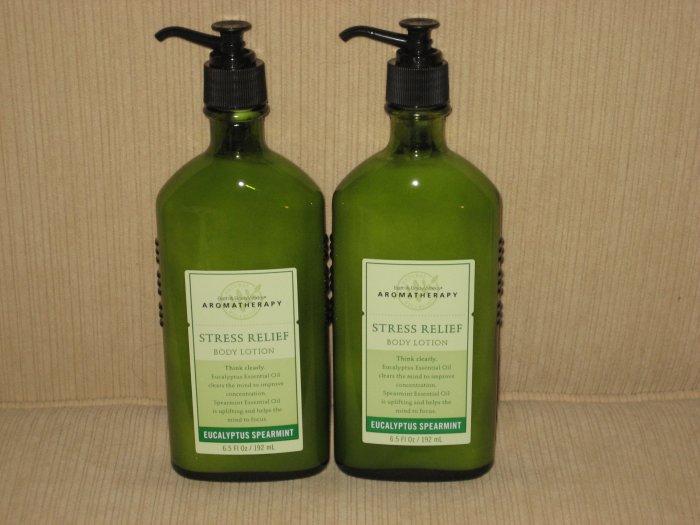 2 Bath & Body Works Eucalyptus Spearmint Body Lotion