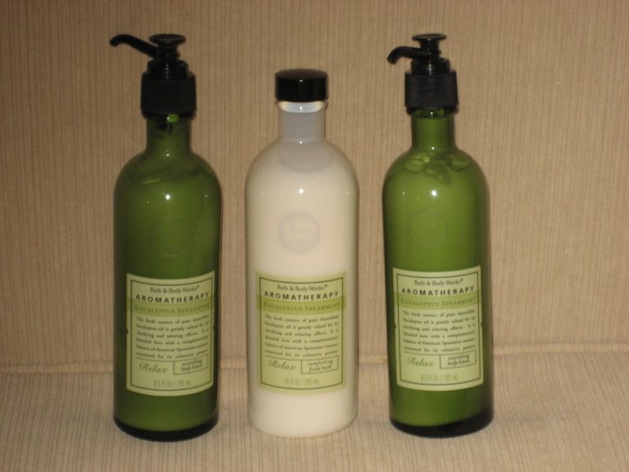 Bath & Body Works Eucalyptus Spearmint Body Lotion & Foam Bath