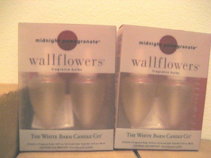2 Bath & Body Works Midnight Pomegranate Wallflowers Refill