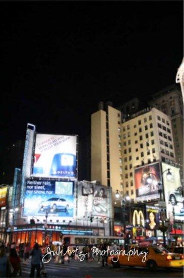Night Life on 34th - 8 x 10 Original Photographic Print