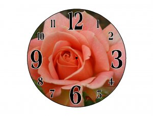 A Rose is A Rose Wall Clock