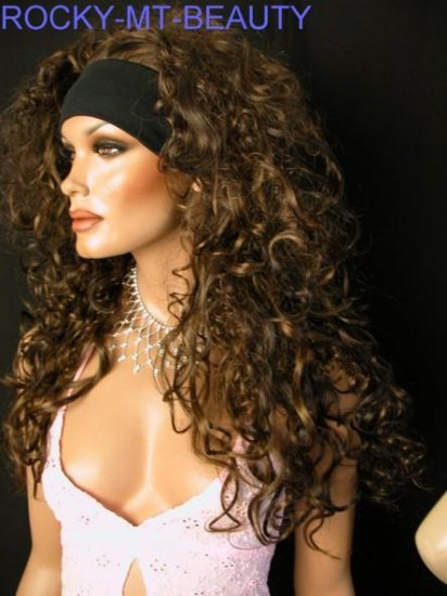 soft 3/4 head band wig. flip and go easy style must have item for chemo and make over
