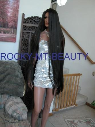 GODIVA STYLE REAL LONG TOP LINE WIG WITH SKIN TOP