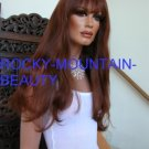 Human Hair Wig Red Long