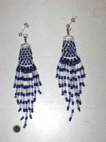 Beaded Dangle Earrings 01