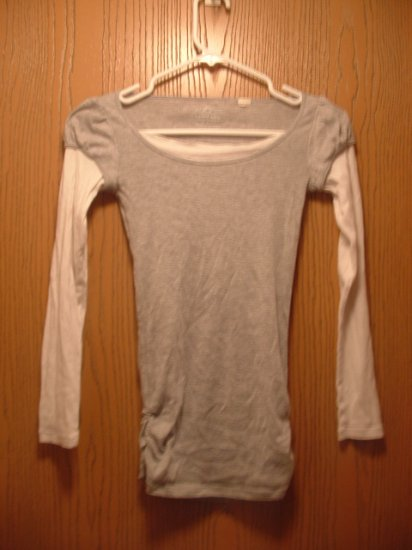 "Grey and White ""layered"" Shirt by Energie"