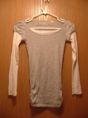 """Grey and White """"layered"""" Shirt by Energie"""