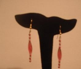 Pink and Clear Dangle