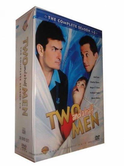 Two And A Half Men Seasons 1-5 DVD Box Set - Free Shipping - Sealed