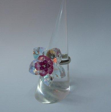 Glittering Heart Crystal Ring (RG007)