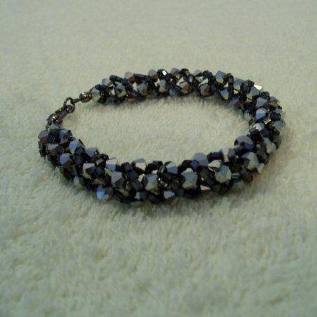 Chainmaille Swarovski Satin Black Bracelet