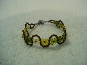 Back to Nature Rustic Olive unique Boho Bracelet