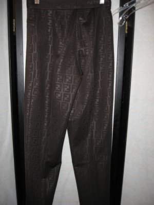FENDI JEANS BROWN DESIGNER ITALY SIZE SMALL