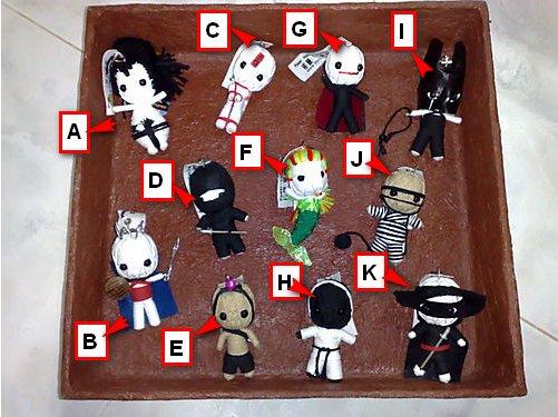 Mini Toons Voodoo Keychain