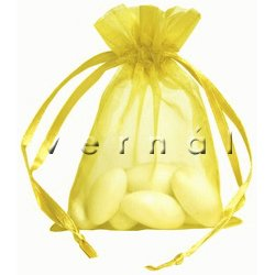 Organza Sachet Favor Bag / Bags - 2.75x4.5 Yellow (Set of 10)