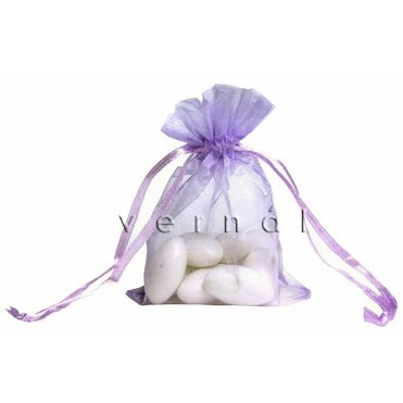 Organza Sachet Favor Bag / Bags - 4x6.5 Lilac (Set of 10)