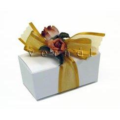 White Double Truffle Favor Box / Boxes (Set of 10)