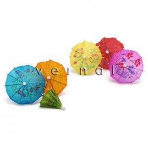 Mini Cocktail Parasol Umbrella - Assorted Color (Set of 10)