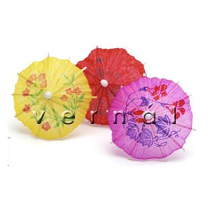 Mini Cocktail Parasol Umbrella - Yellow (Set of 10)