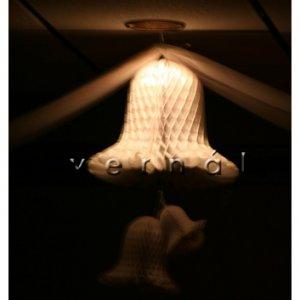 "White Honeycomb Paper Wedding Bell - 3.5"""