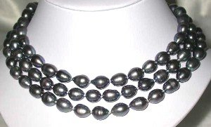 """AA real 50"""" 10-11mm peacock pearl necklace"""