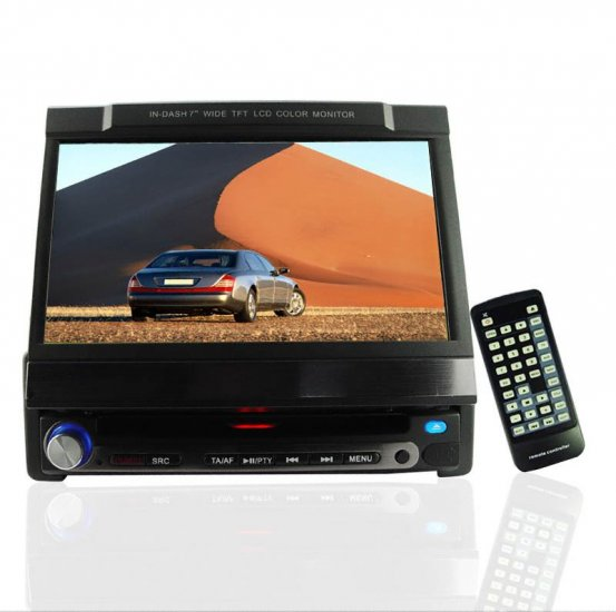 Touch Screen DVD Player - 1-Din 7 Inch TFT Screen -SECAM Tuner