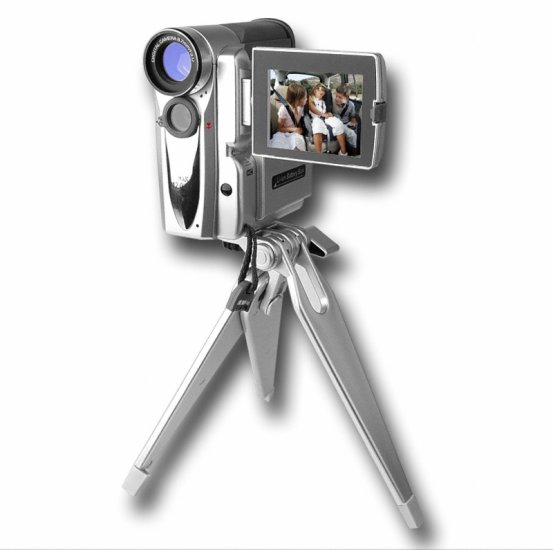 Dual Powered Digital Camcorder + Camera - Tripod + LED Light