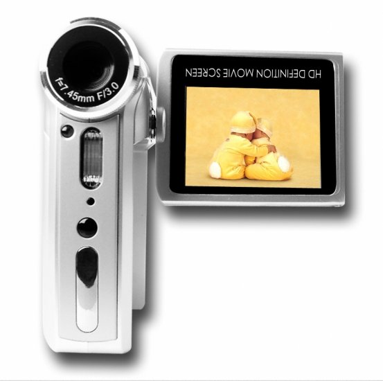 5.1M Pixel CMOS Digital Camcorder - Movies + Still Pictures